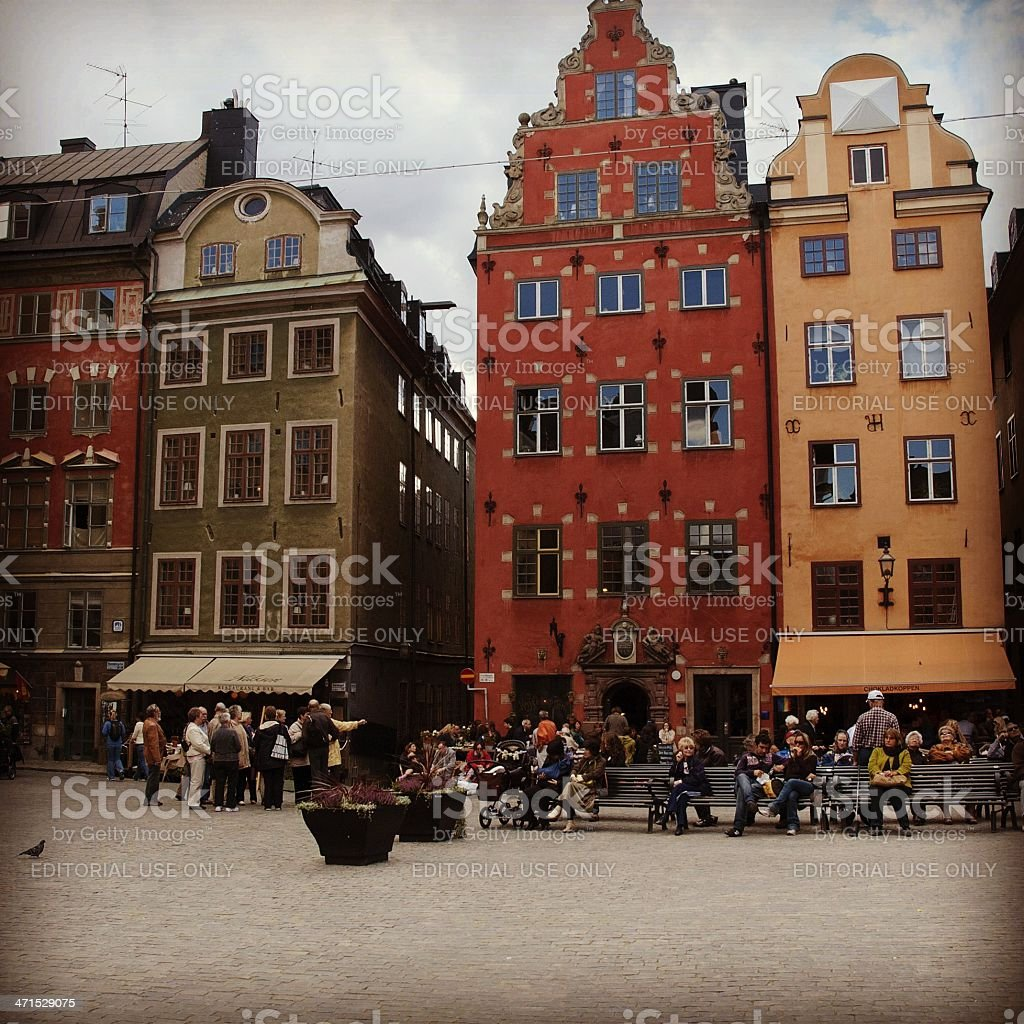 Stockholm (Sweden) Stortorget Square royalty-free stock photo