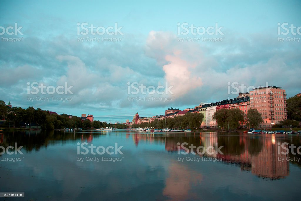 Stockholm summer evening royalty-free stock photo