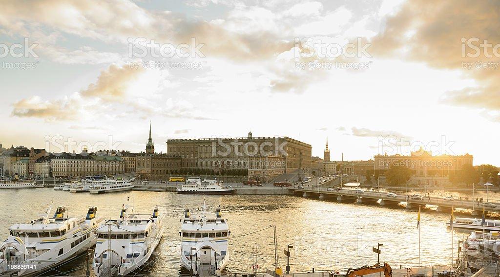 Stockholm Sunset stock photo