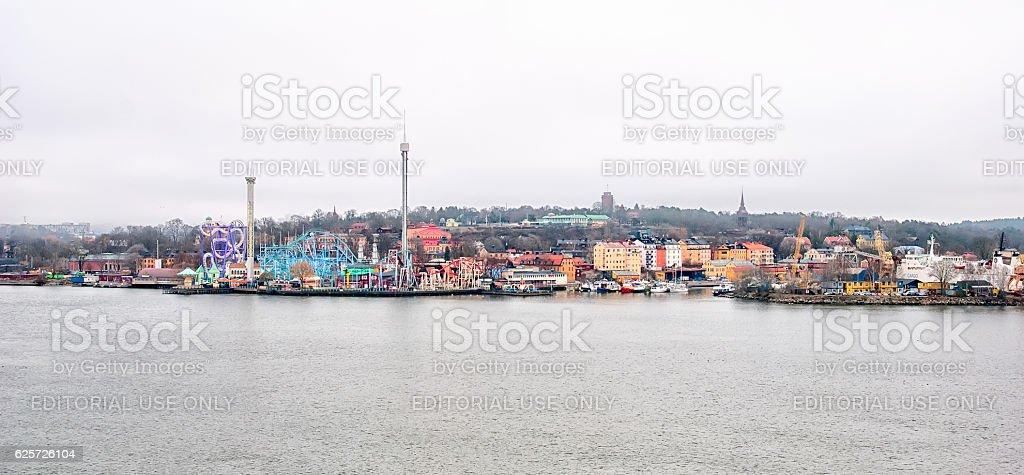 Stockholm. Sweden. Grona Lund Amusement Park stock photo