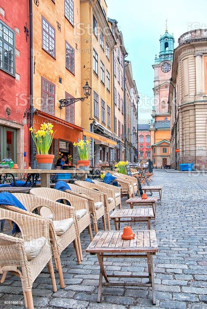 Stockholm. Sweden. Man in cafe stock photo