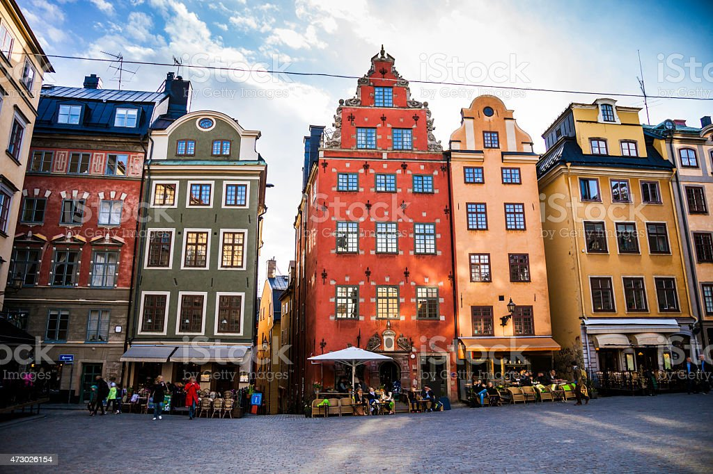 Stockholm, Sweden, Old town and town square stock photo