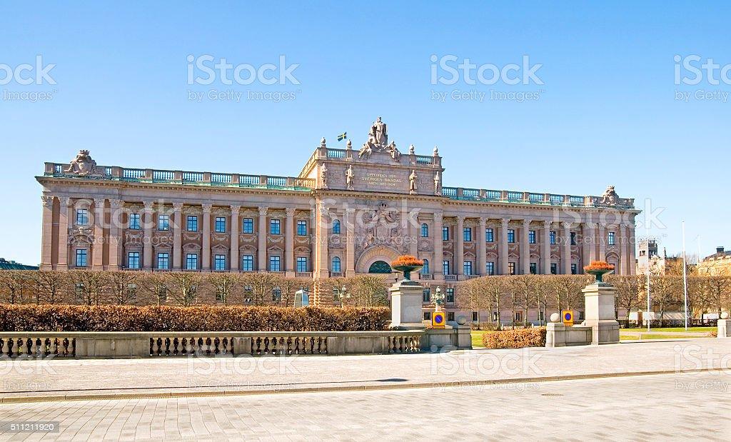 Stockholm. Sweden. Riksdag stock photo