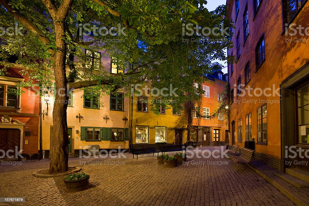 Stockholm Sweden Town Square in Gamla Stan Old Town royalty-free stock photo
