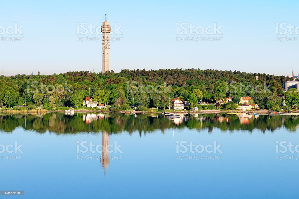 Stockholm TV tower stock photo