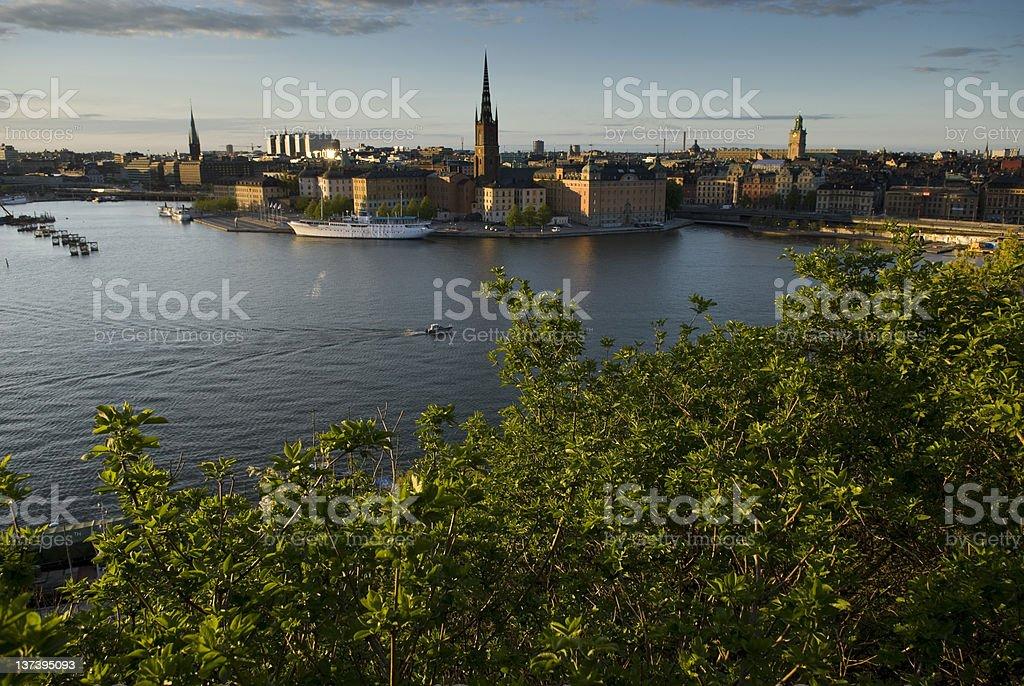 Stockholm view stock photo