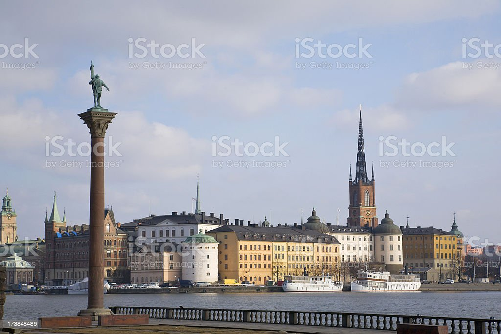 Stockholm view. stock photo