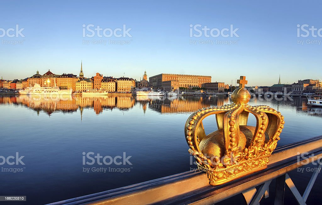 stockholm view with crown royalty-free stock photo