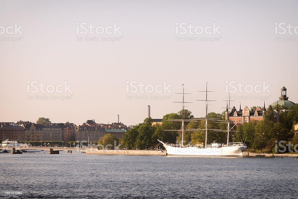Stockholm Water Scene stock photo