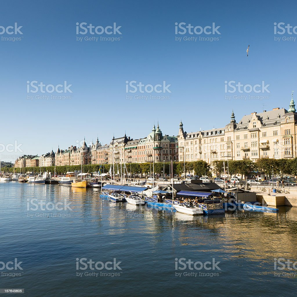 Stockholm Waterfront Sweden in Summer royalty-free stock photo