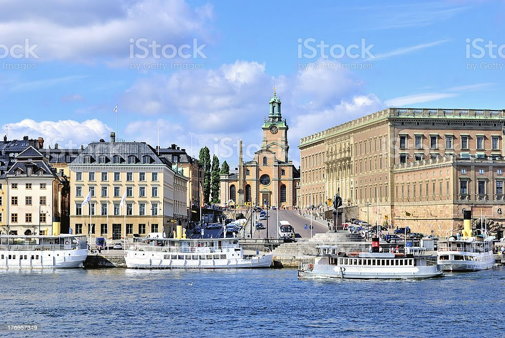 Stockholm's Cathedral stock photo