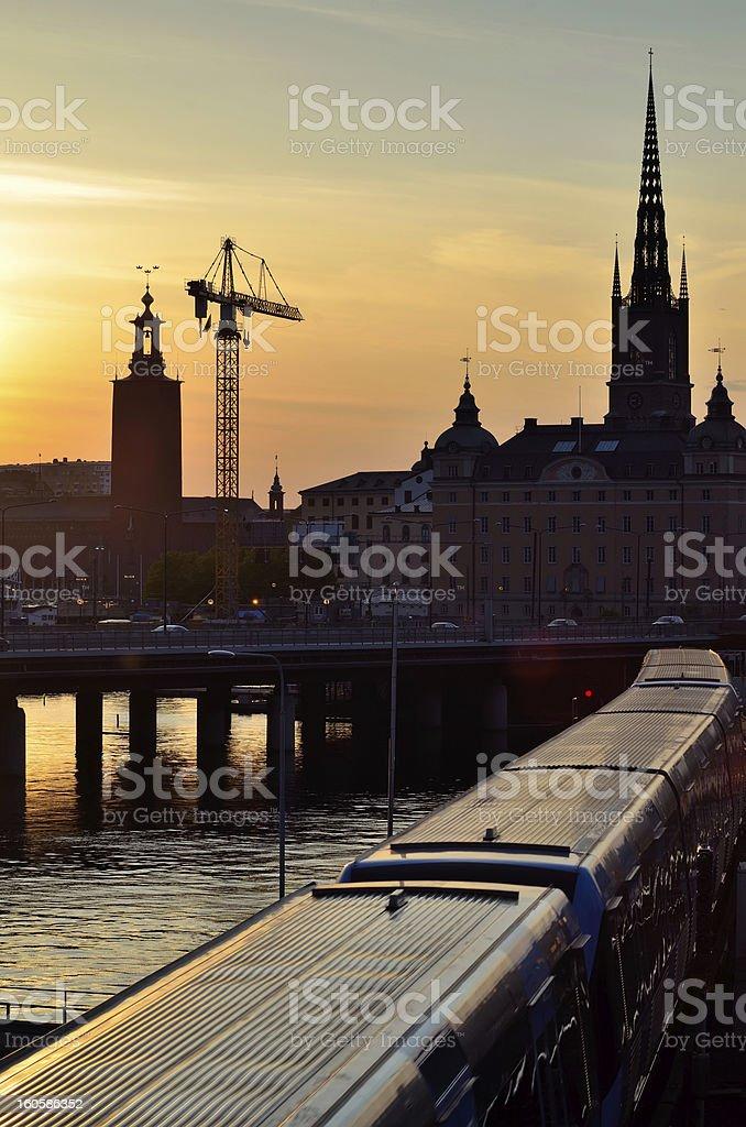 Stockholm's skyline stock photo