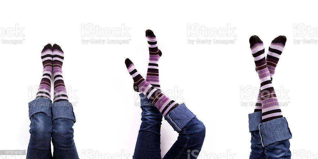 Stocking Feet! stock photo