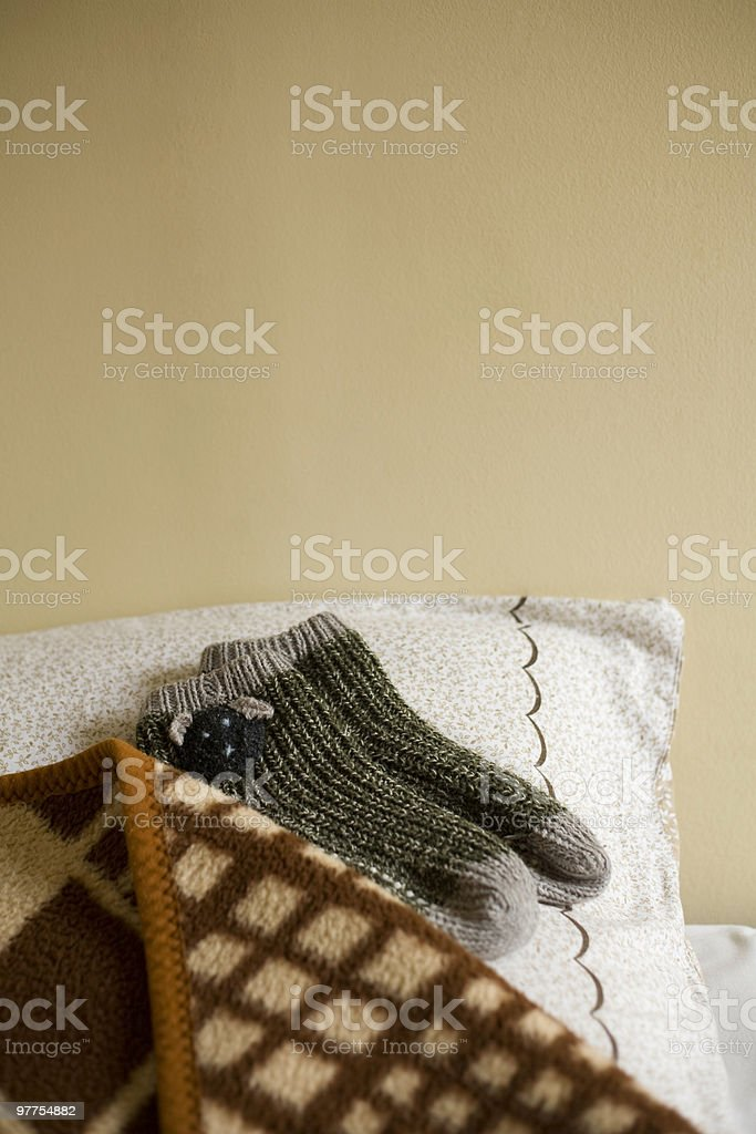 Stockings for winter dreams stock photo