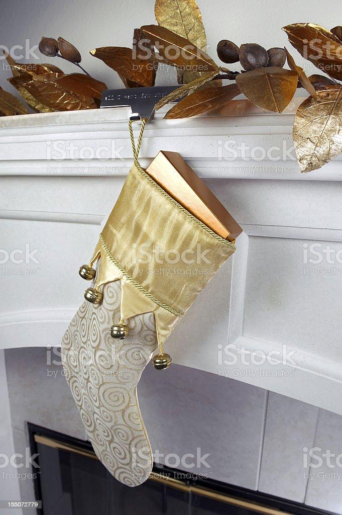 Stockings on Mantle stock photo