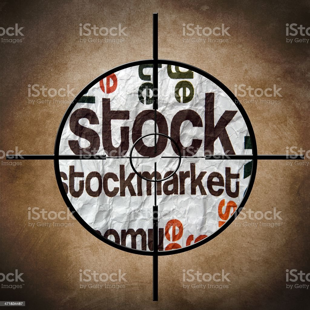 Stockmarket target royalty-free stock photo