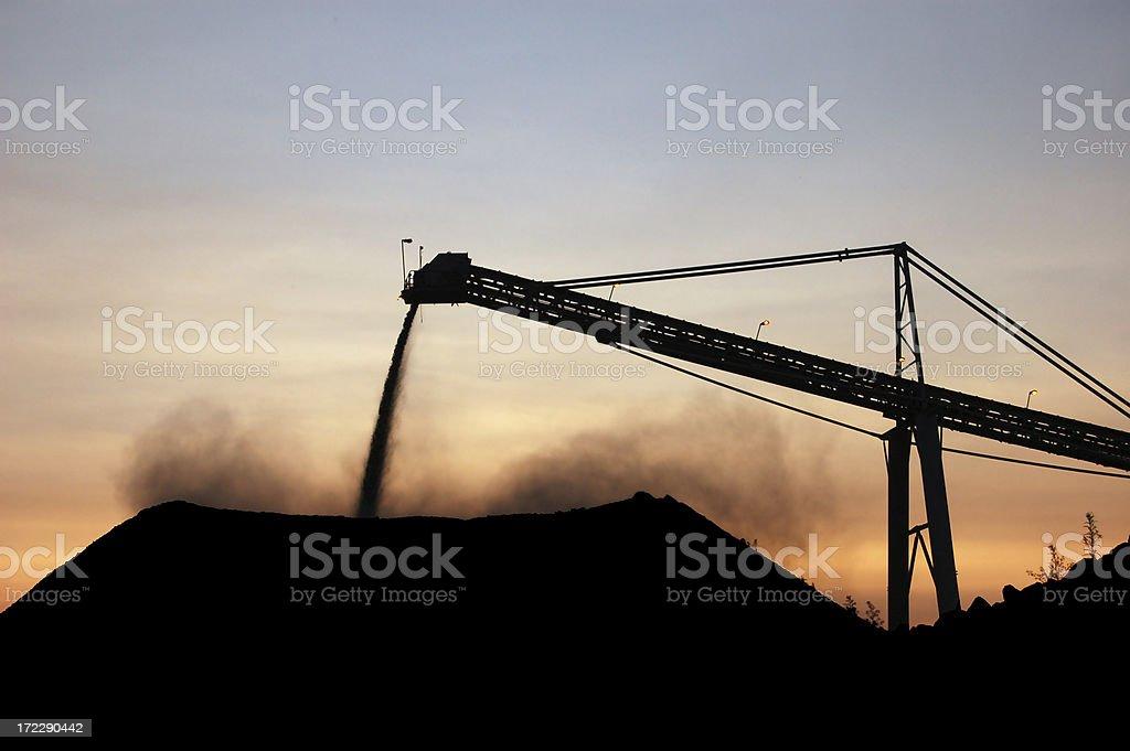 Stockpile at Sundown stock photo