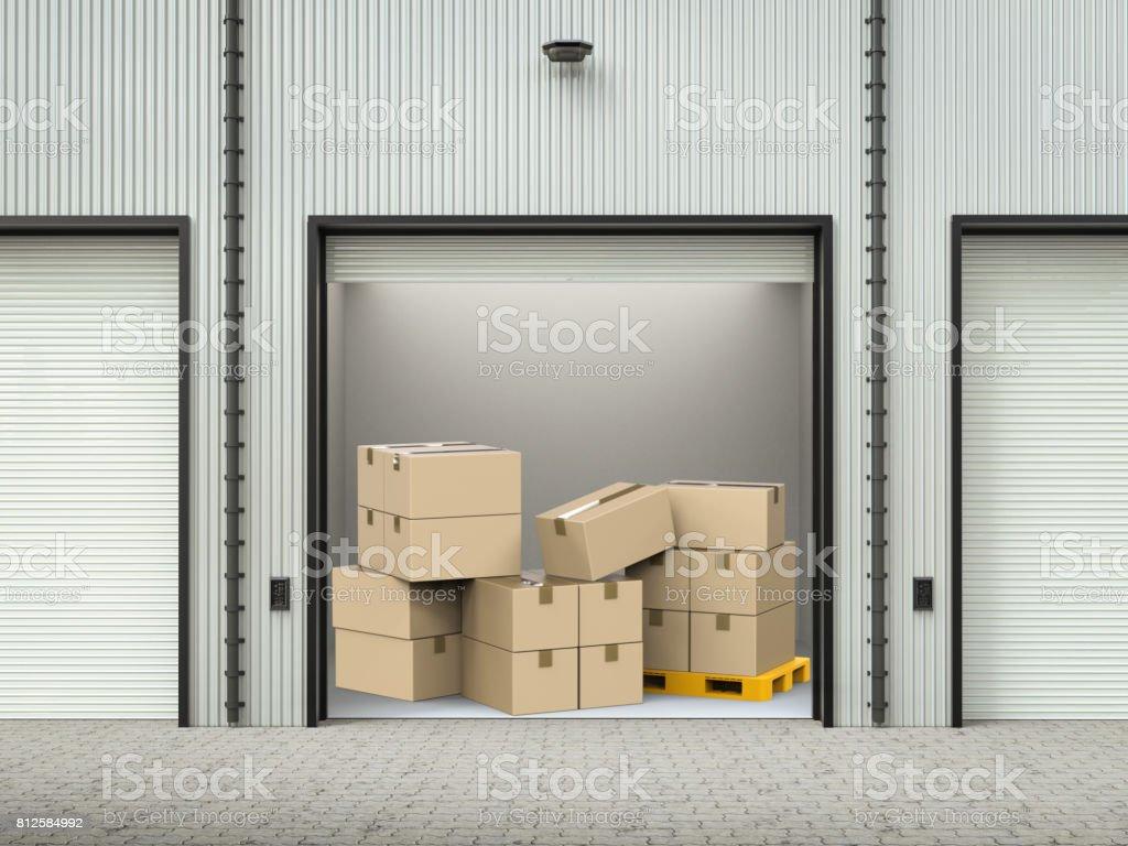 stockpile in warehouse stock photo