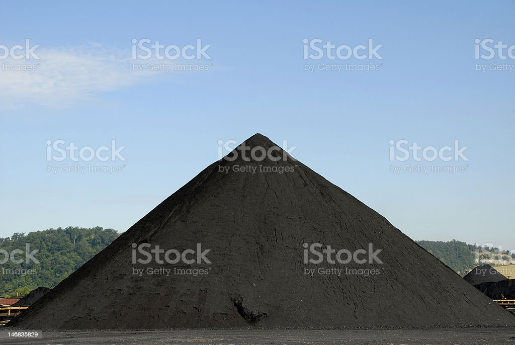 Stockpile of Coal royalty-free stock photo