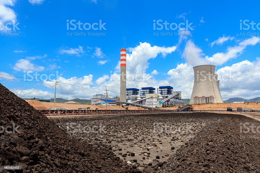 Stockpile of Coal stock photo