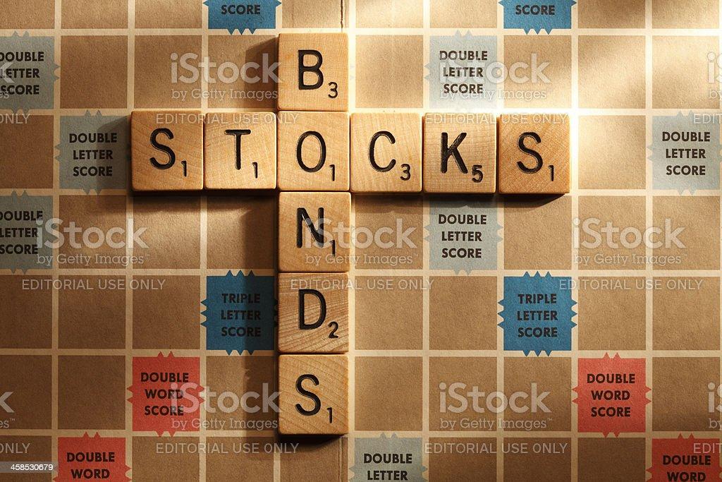 Stocks and Bonds stock photo