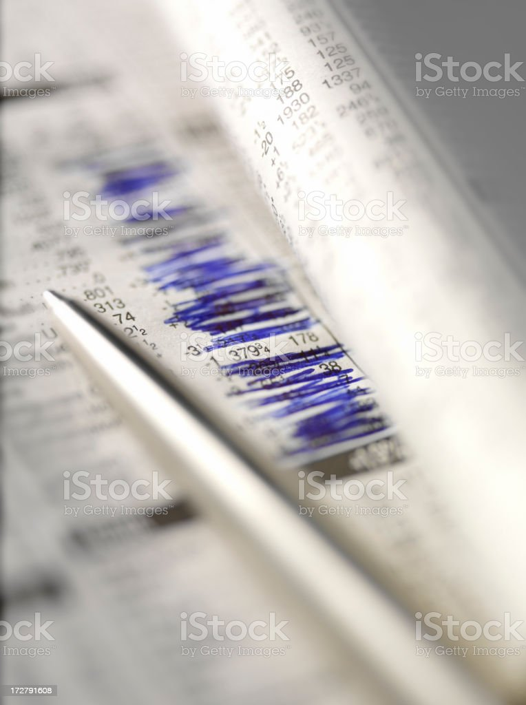 Stocks and Shares Newspaper stock photo