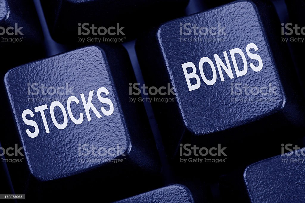 Stocks & Bonds stock photo
