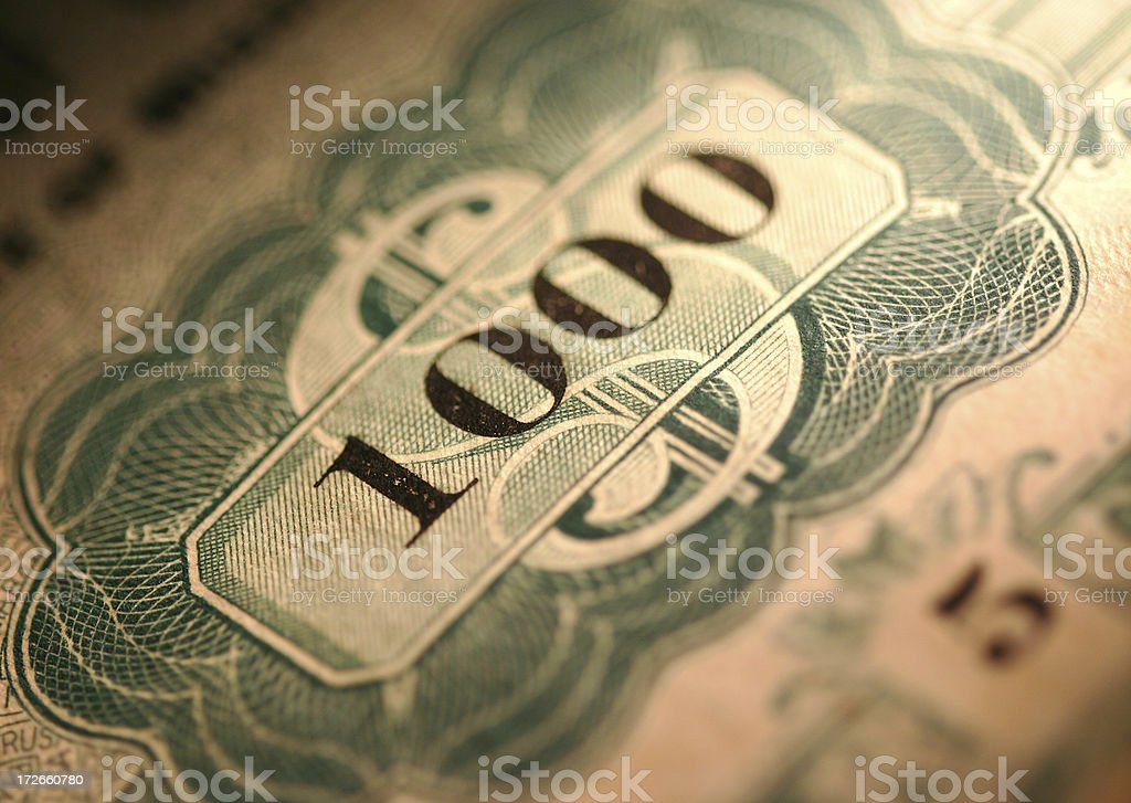 Stocks Certificate / Mutal Fund / Bond royalty-free stock photo