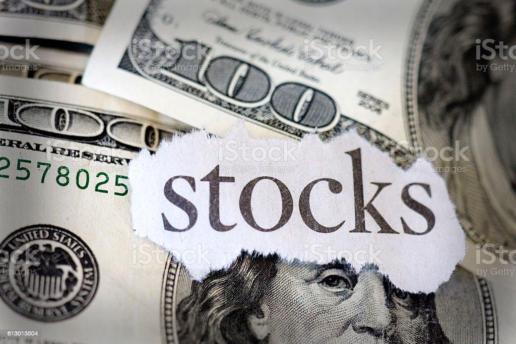 stocks Crash stock photo