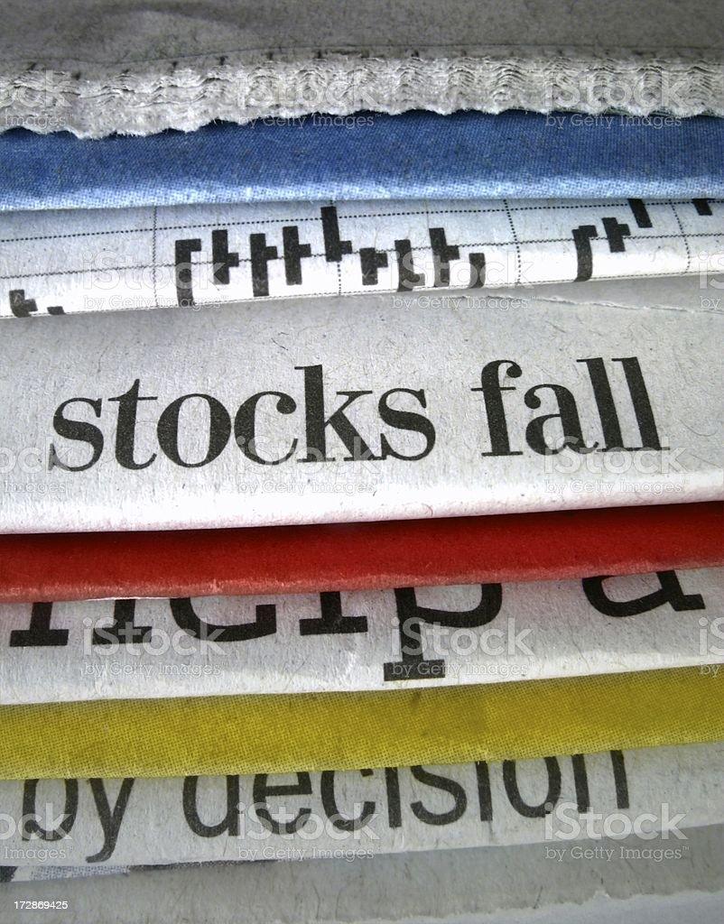Stocks Fall stock photo