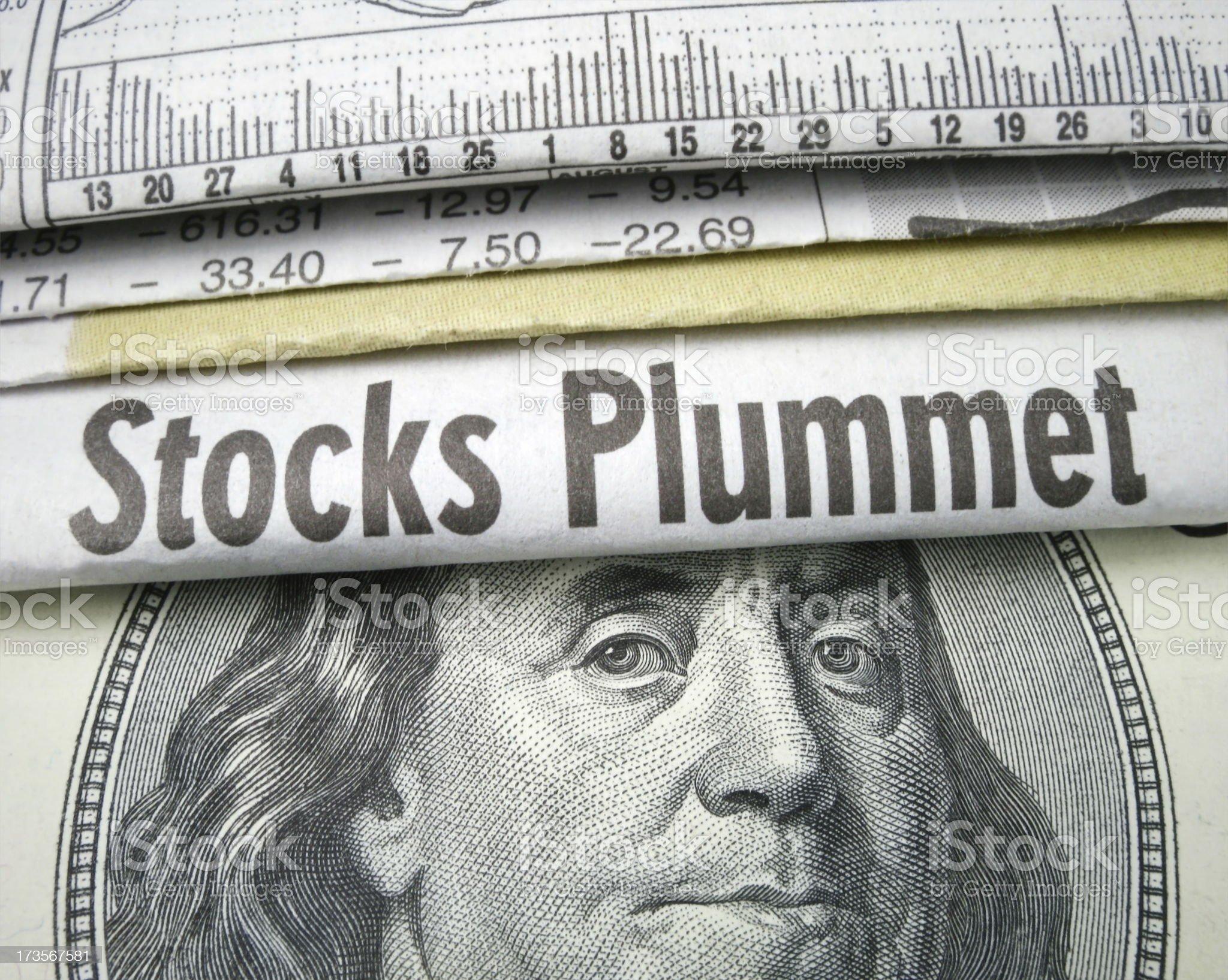 Stocks Plummet royalty-free stock photo