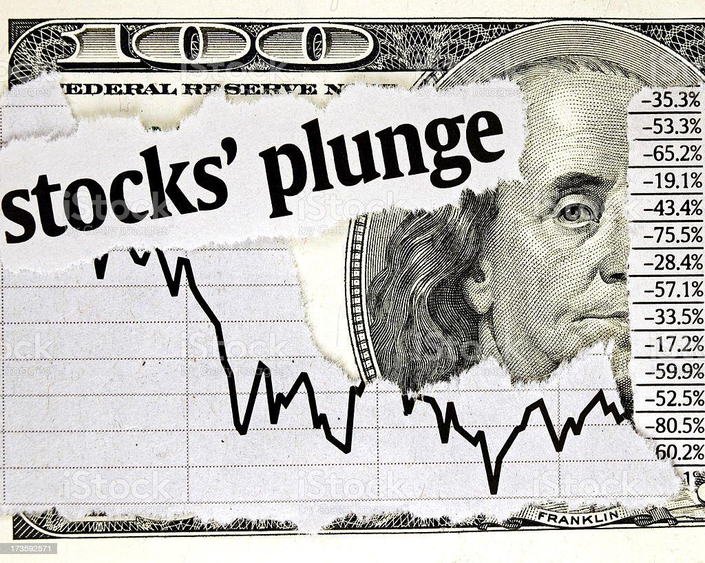 Stock's Plunge stock photo