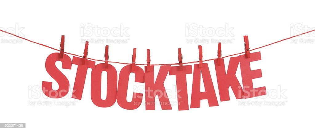 Stocktake stock photo