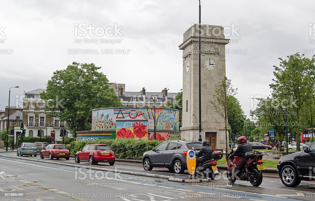 Stockwell tower stock photo