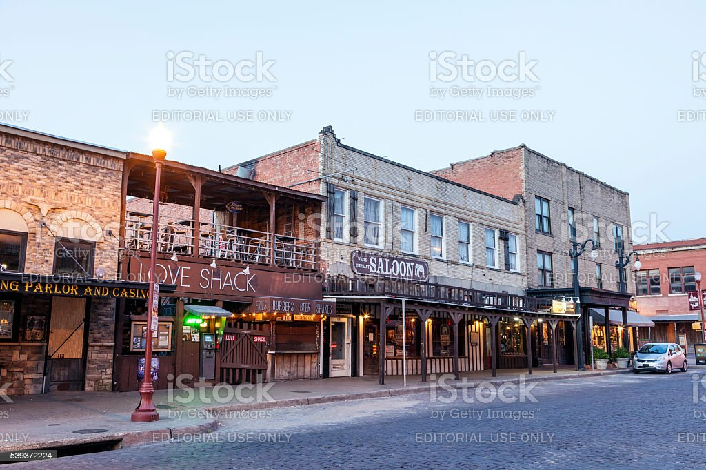 Stockyards Historic District in Fort Worth stock photo