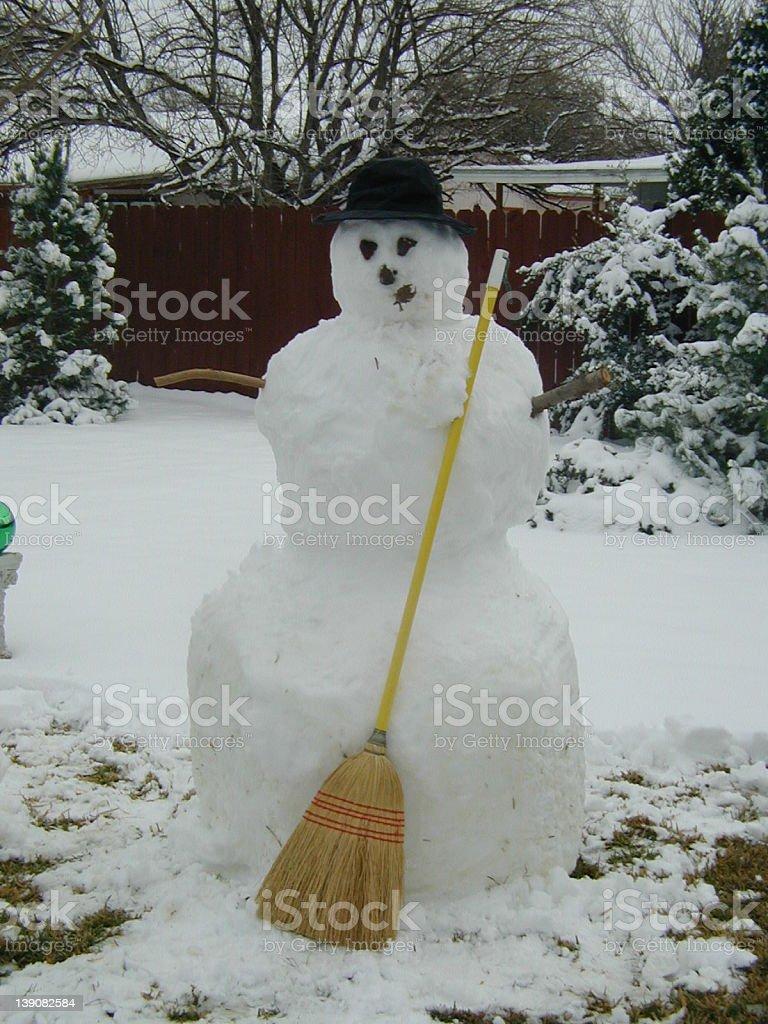 Stodgy Snowman royalty-free stock photo
