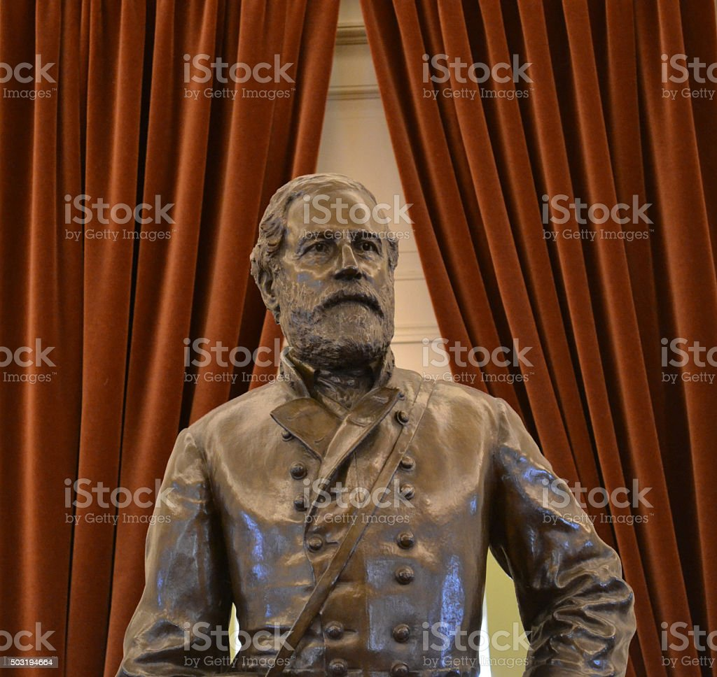 Stoic Robert E Lee Statue stock photo