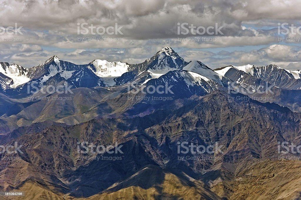 Stok Kangri Mountain Ladakh Indian Himalaya royalty-free stock photo
