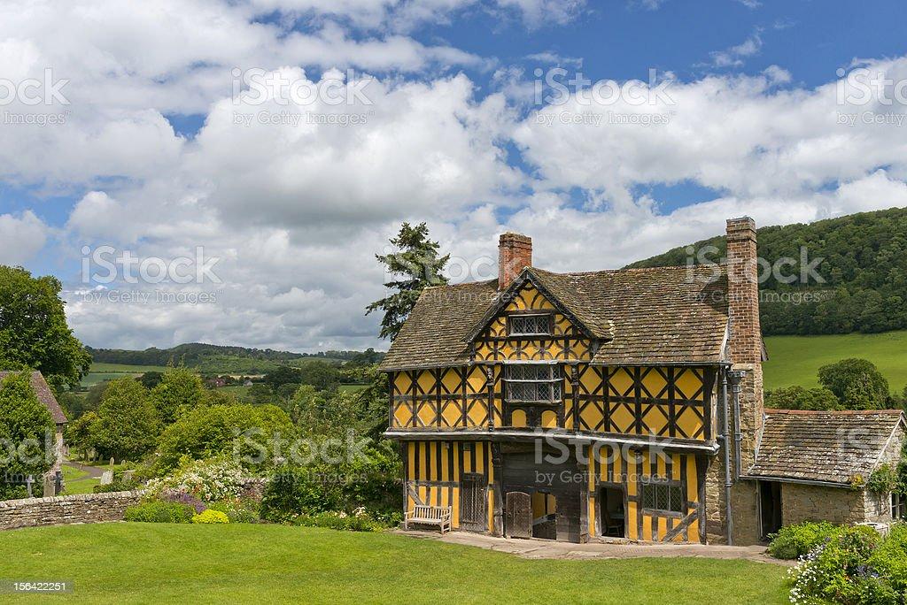 Stokesay Manor Gate House royalty-free stock photo