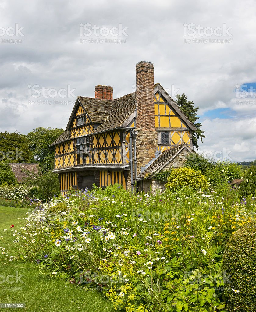 Stokesay Manor Gate House royalty-free stock photo