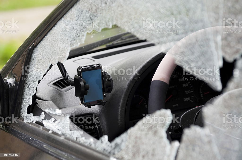 Stolen car navigational system stock photo