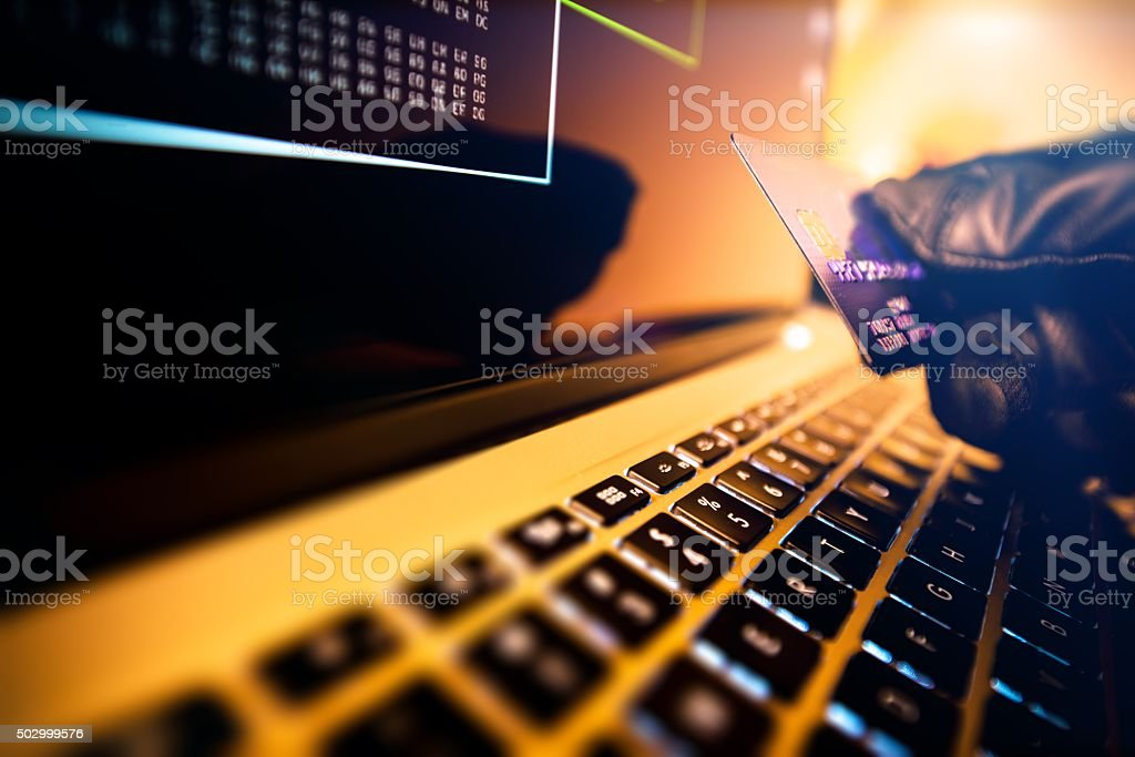 Stolen Credit Cards stock photo