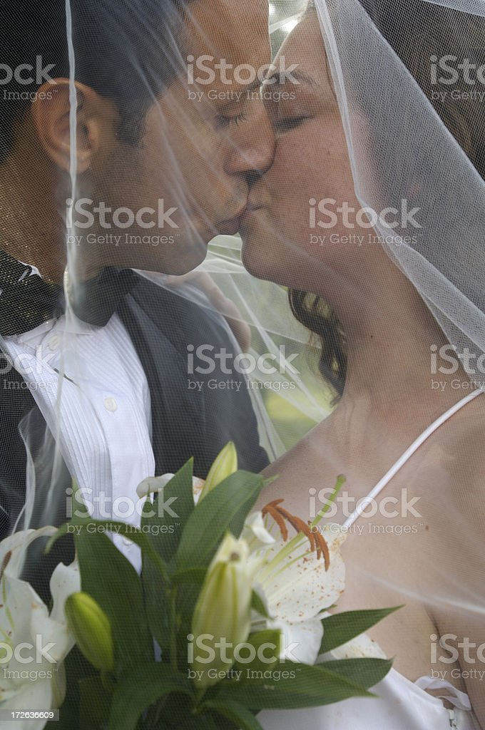 Stolen kiss royalty-free stock photo