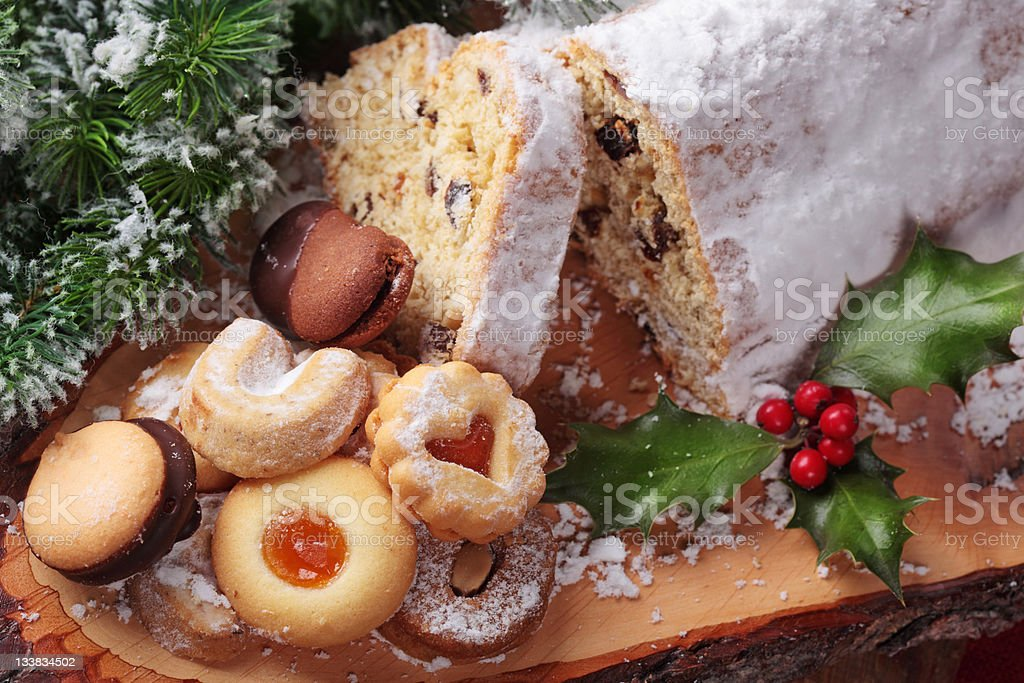 Stollen cake royalty-free stock photo