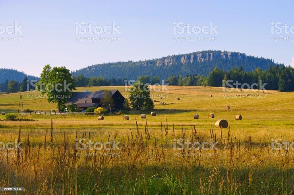 Stolowe Mountains in Silesia stock photo