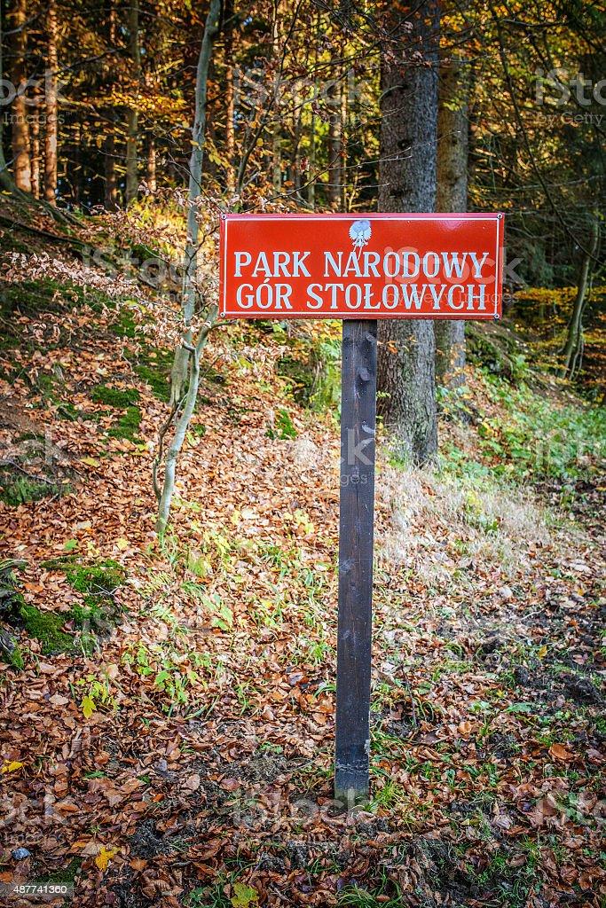 Stolowe Mountains National Park stock photo