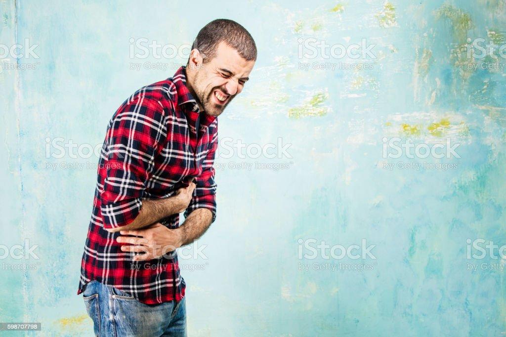 Stomach ache stock photo