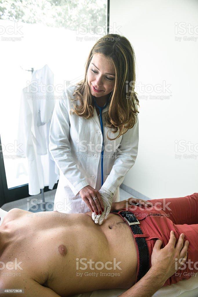 Stomach medical examination stock photo