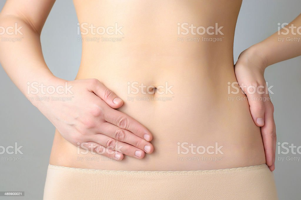 Stomach pain royalty-free stock photo