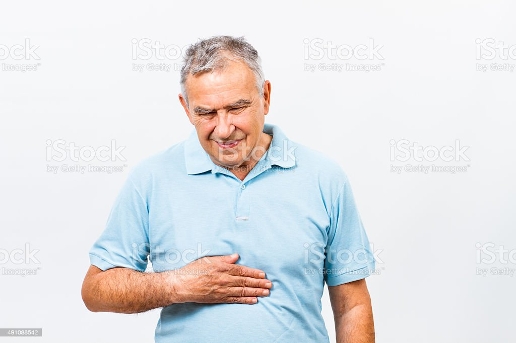 Stomachache stock photo